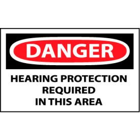Machine Labels - Danger Hearing Protection Required In This Area