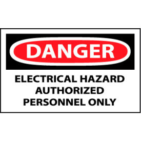 Machine Labels - Danger Electrical Hazard