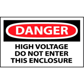 Machine Labels - Danger High Voltage Do Not Enter This Enclosure