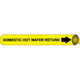 Precoiled and Strap-on Pipe Marker - Domestic Hot Water Return