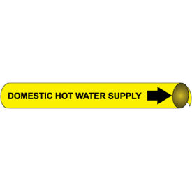Precoiled and Strap-on Pipe Marker - Domestic Hot Water Supply
