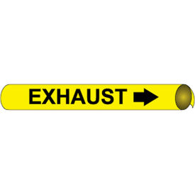 Precoiled and Strap-on Pipe Marker - Exhaust
