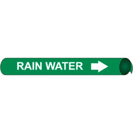 Precoiled and Strap-on Pipe Marker - Rain Water