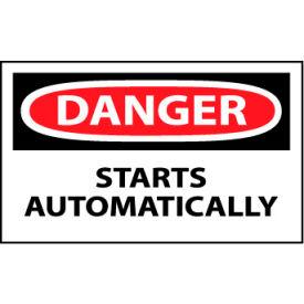 Machine Labels - Danger Starts Automatically