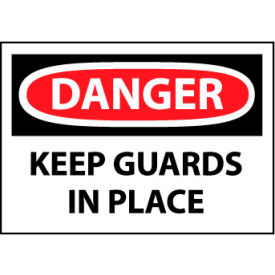 Machine Labels - Danger Keep Guards In Place