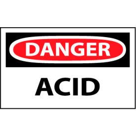 Machine Labels - Danger Acid