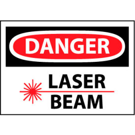 Machine Labels - Danger Laser Beam with Graphic