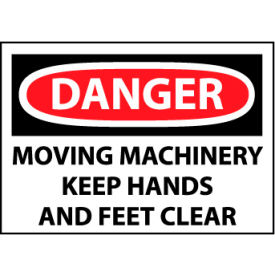 Machine Labels - Danger Moving Machinery Keep Hands And Feet Clear