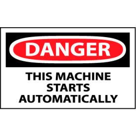 Machine Labels - Danger This Machine Starts Automatically