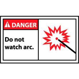 Graphic Machine Labels - Danger Do Not Watch Arc