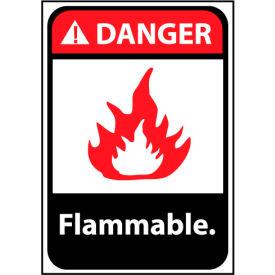Danger Sign 14x10 Aluminum - Flammable