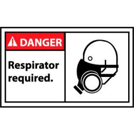 Graphic Machine Labels - Danger Respirator Required