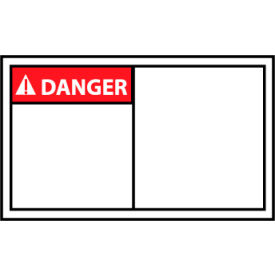 Graphic Machine Labels - Danger Blank with Header Only