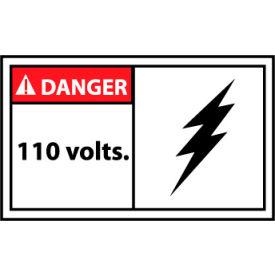 Graphic Machine Labels - Danger 110 Volts