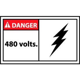 Graphic Machine Labels - Danger 480 Volts