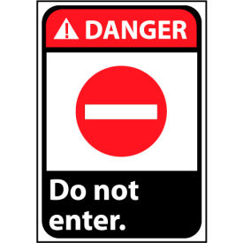Danger Sign 14x10 Aluminum - Do Not Enter