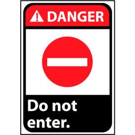 Danger Sign 14x10 Vinyl - Do Not Enter