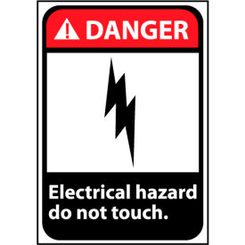 Danger Sign 14x10 Rigid Plastic - Electrical Hazard Do Not Touch