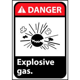 Danger Sign 14x10 Vinyl - Explosive Gas