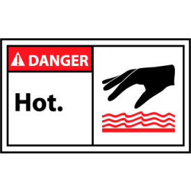 Graphic Machine Labels - Danger Hot