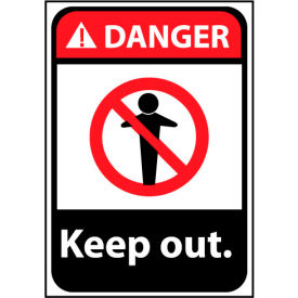Danger Sign 14x10 Rigid Plastic - Keep Out