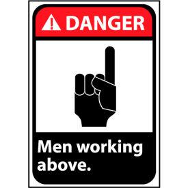 Danger Sign 14x10 Vinyl - Men Working Above