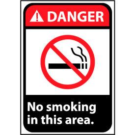 Danger Sign 14x10 Rigid Plastic - No Smoking In This Area