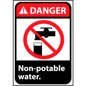 Danger Sign 14x10 Vinyl - Non-Potable Water