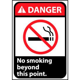 Danger Sign 10x7 Rigid Plastic - No Smoking Beyond This Point