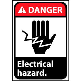 Danger Sign 10x7 Rigid Plastic - Electrical Hazard