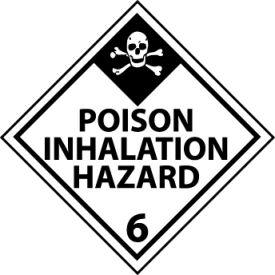 DOT Placard - Poison Inhalation Hazard 6