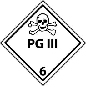 DOT Placard - PG III