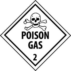 DOT Placard - Poison Gas