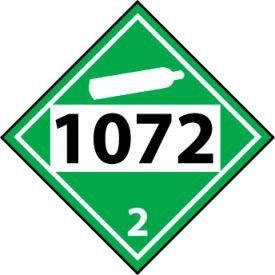DOT Placard - 1072 2