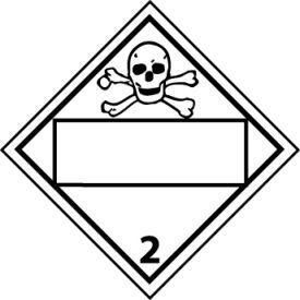 DOT Placard - Poison Gas 2