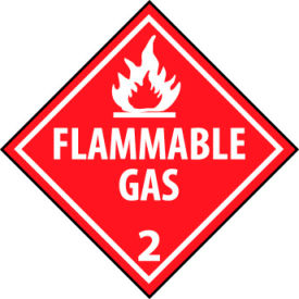 DOT Placard - Flammable Gas 2