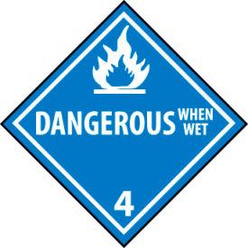 DOT Placard - Dangerous When Wet