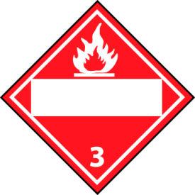 DOT Placard - Flammable 3 Blank