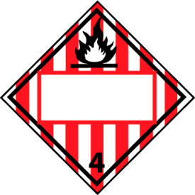 DOT Placard - Flammable Solid 4