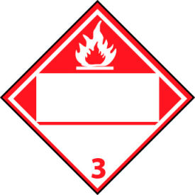DOT Placard - Flammable 3