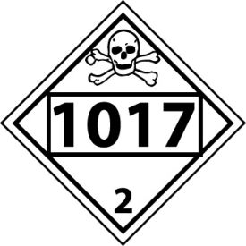 DOT Placard - Four Digit 1017