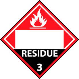 DOT Placard - Residue 3 Blank