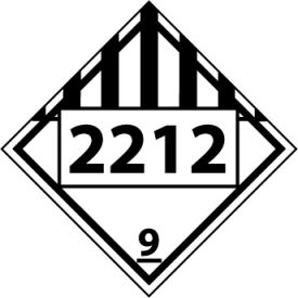 DOT Placard - Four Digit 2212