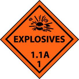 DOT Placard - Explosive 1.1A 1
