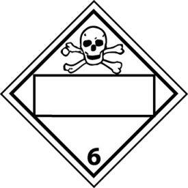 DOT Placard - Poison Blank