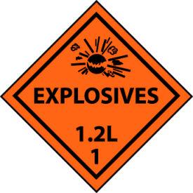 DOT Placard - Explosives 1.2L 1