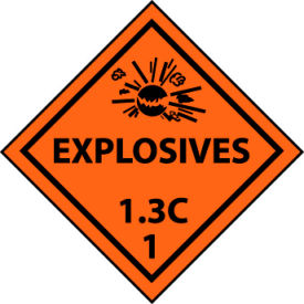 DOT Placard - Explosives 1.3C 1