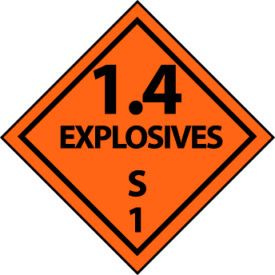 DOT Placard - Explosives S 1