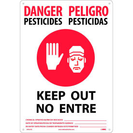 Bilingual Plastic Sign - Danger Pesticides Keep Out