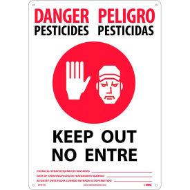 Bilingual Plastic Sign - Danger Pesticides Keep Out
